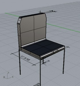 Chair with surfaces