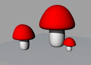 David-3d-mushrooms