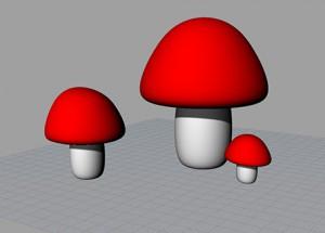 David-3d-mushrooms
