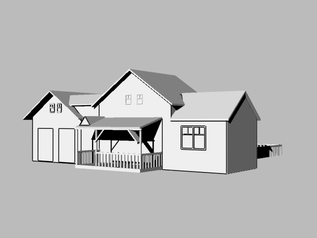 House rendered