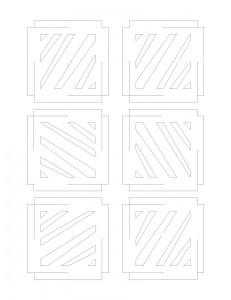 Paper Box Layout White