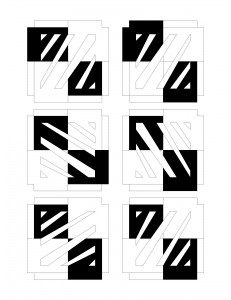 Paper Box Layout with Black and White