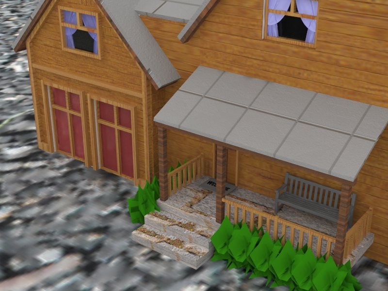 Rendered House 1