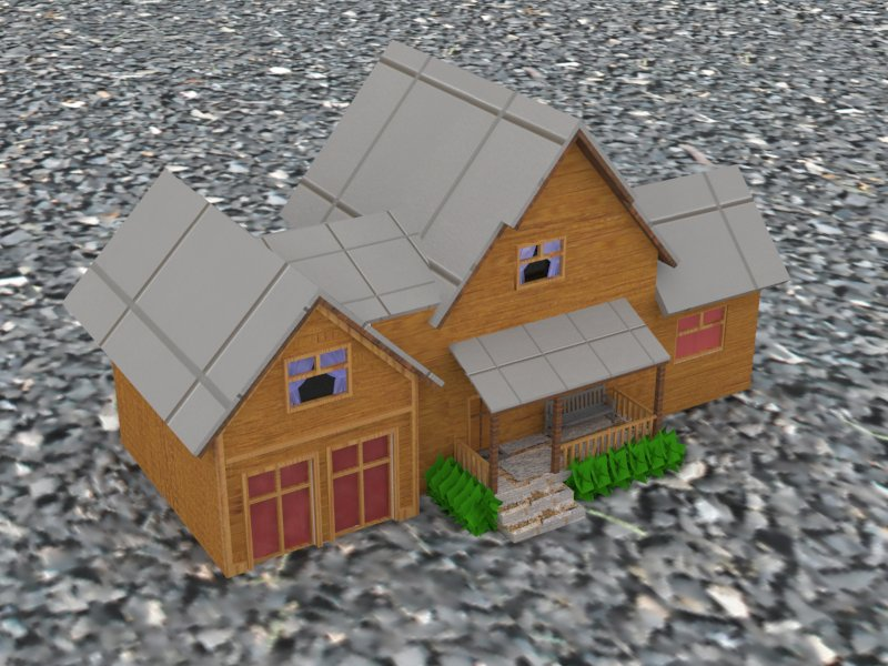 Rendered House 2