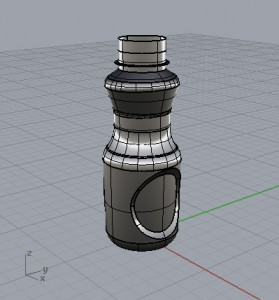 Shaded Water Bottle following tutorial from http://vimeo.com/74783227