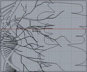 Eye Movement with Gradation Verticals