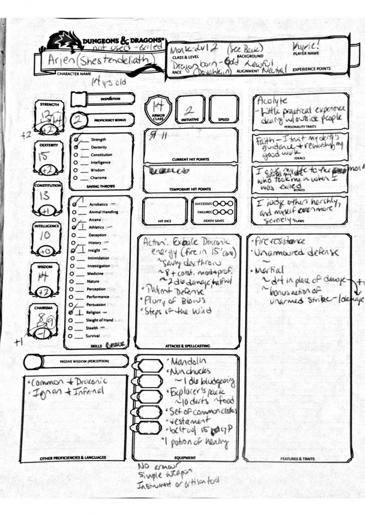 Arjen Character Sheet copy 2