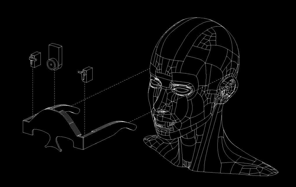 armature axon - black background